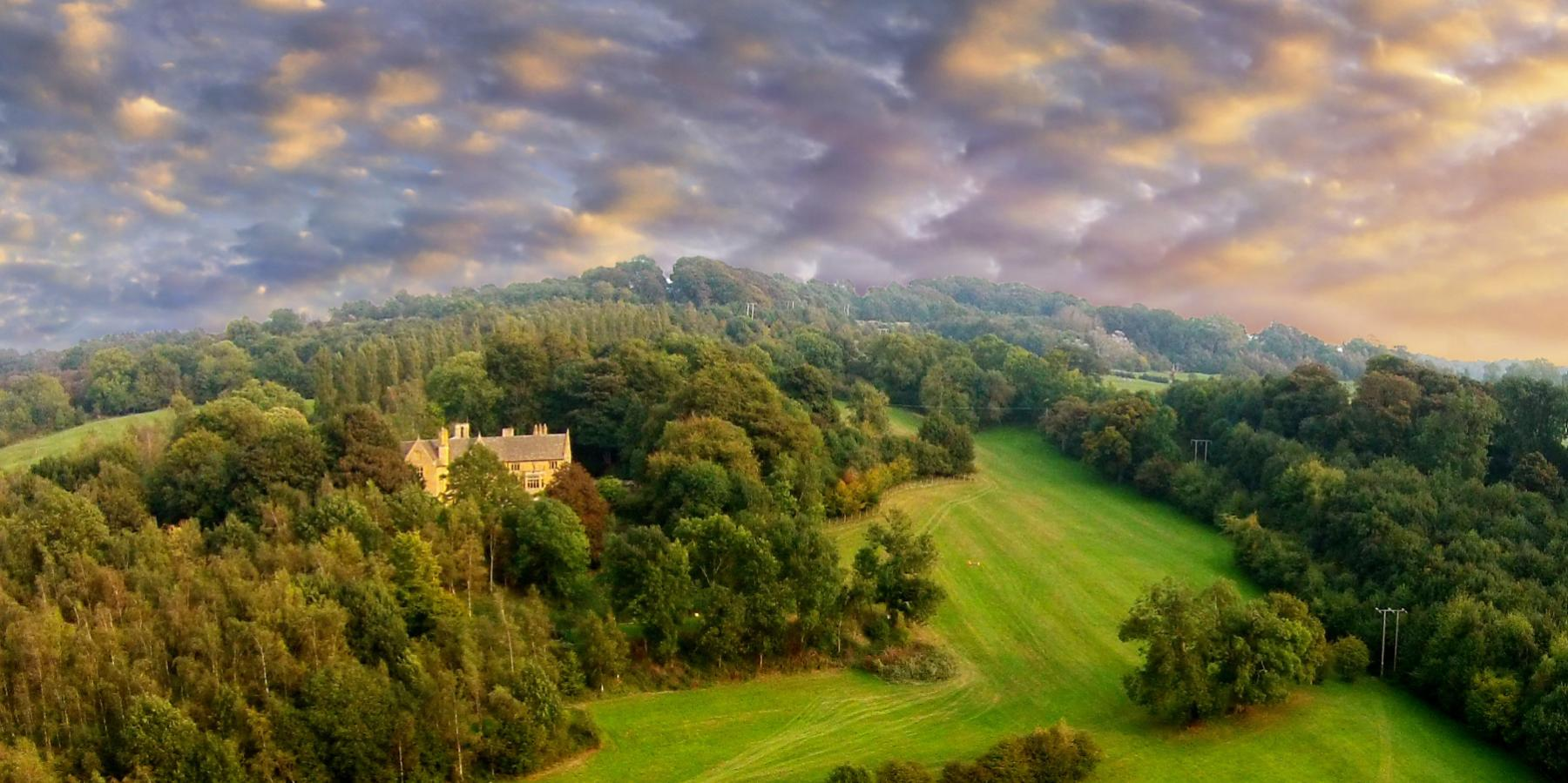 Farncombe estate drone